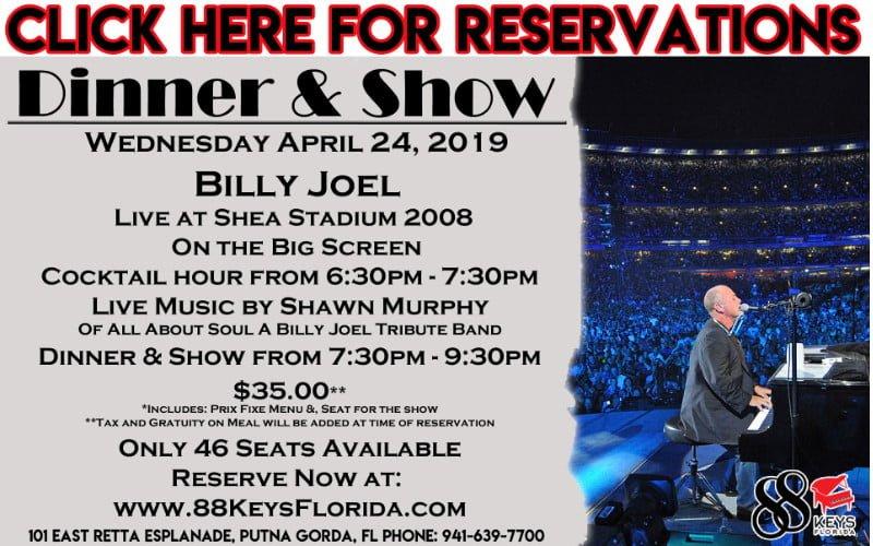 88 Keys Billy Joel Show Poster